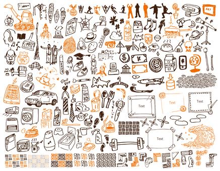 Fashionable hand-drawn illustrations