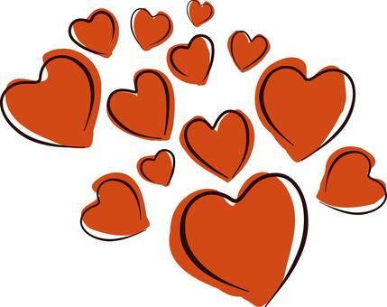 Heart love wedding