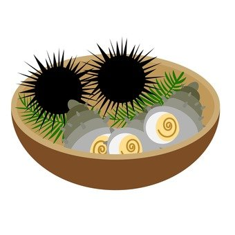 Sea urchin and soup