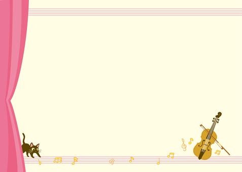 바이올린 카드 (핑크)