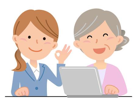 5911. Senior women, classroom