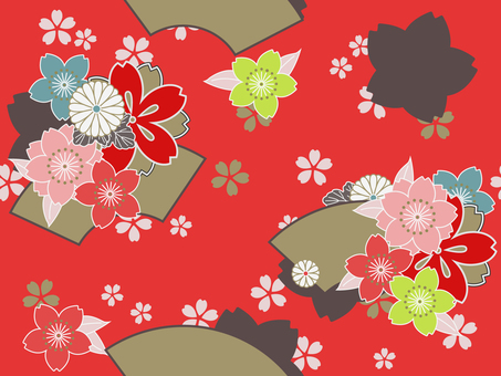 Japanese style Chiyogami Red