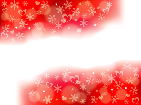 Snow and heart background _ Red