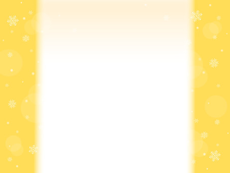 Snow crystal frame background yellow series