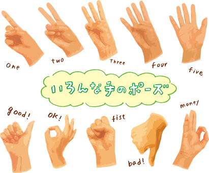 Signs of various hands