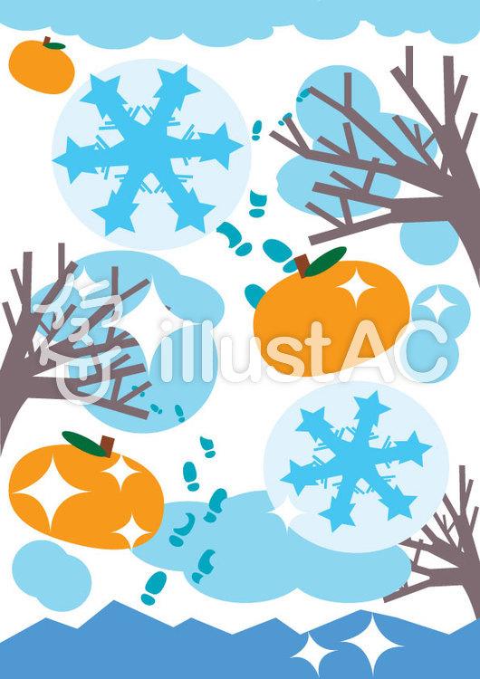 冬の彩り A4イラスト No 49397無料イラストならイラストac