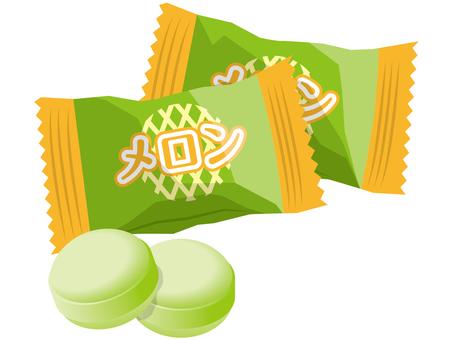 Green melon candy