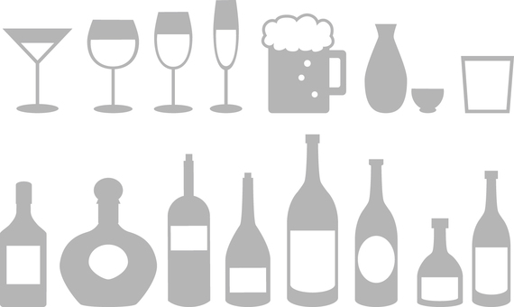 Alcohol icon Gray