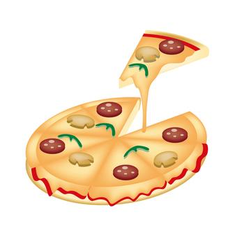 Pizza illustration 1