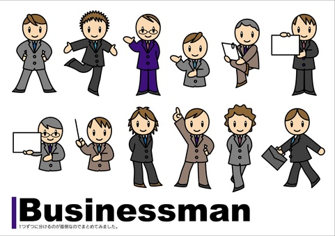 Business man set