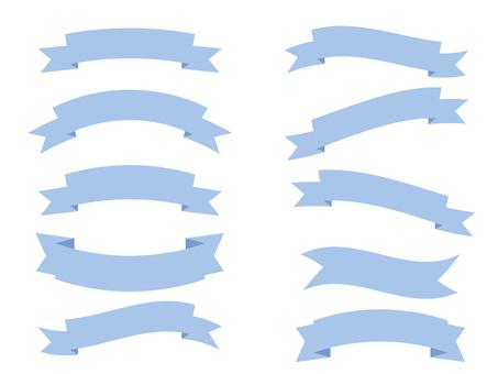 Simple blue ribbon set