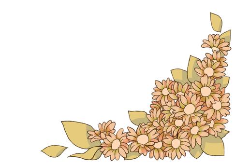 Sepia flower frame