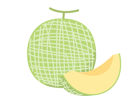Simple fruit melon (cut)