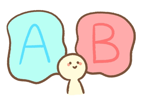 A和B比較圖