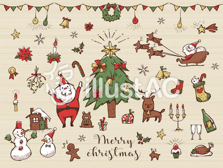 手書きクリスマス詰め合わせ3イラスト No 602371無料イラストなら