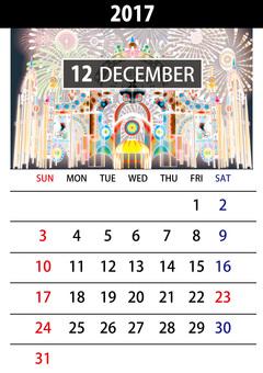 December calendar illumination