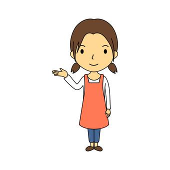 Female whole body housewife 8