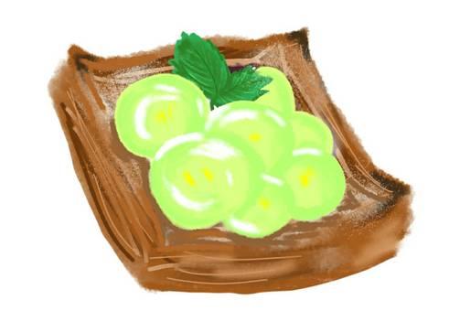 데니쉬 빵 무스카트 과일