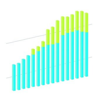 3D solid bar chart 7