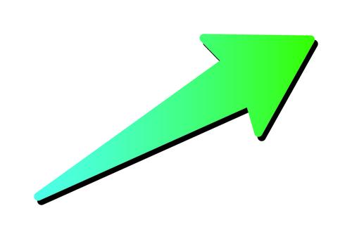 Right upward arrow