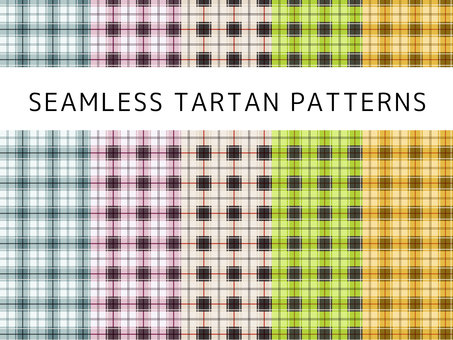 Tartan Check Seamless Wallpaper Set 01