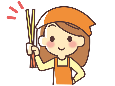 Women holding chopsticks (051)