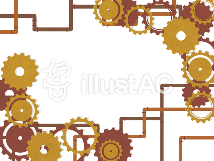 Free Cliparts : gear steampunk frame simple - 864458 | illustAC