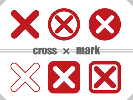 Cross mark TYPE02 Red