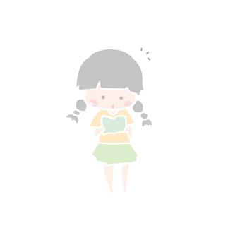 女の子(読書)