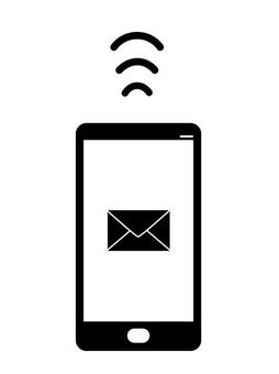 Smartphone mail sending and receiving