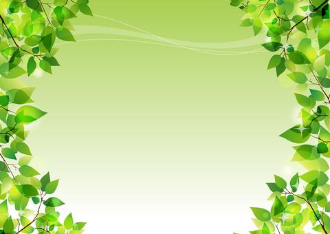 A glittery fresh green illustration (side)