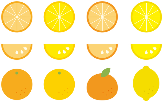 Citrus fruits such as oranges, oranges and lemons