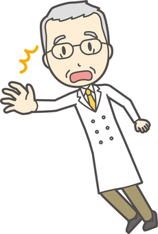 Gray hair male doctor-318-full body