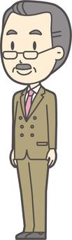 Middle-aged man beard-243-whole body