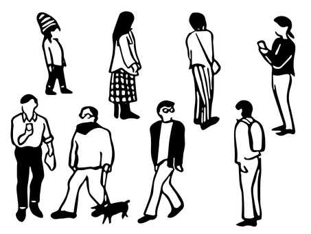 People_line drawing