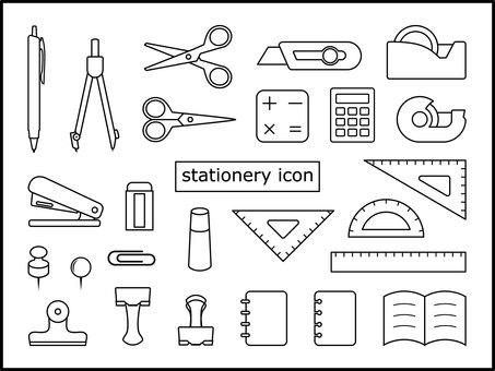 Icon set stationery
