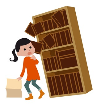 Shelf falls down