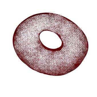 Sugar cocoa donut