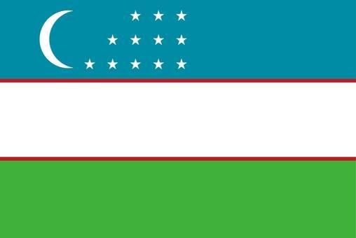Uzbekistan Flag (no name)
