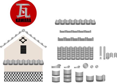 Tile roof production set
