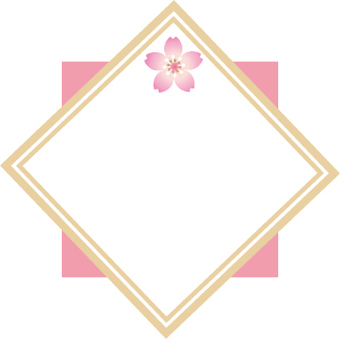 Japanese style frame of cherry blossoms