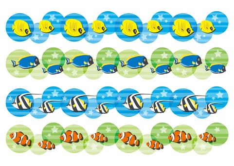 Tropical fish line set