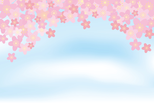 Blue sky and cherry tree 01
