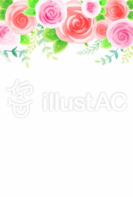バラ背景005のイラスト