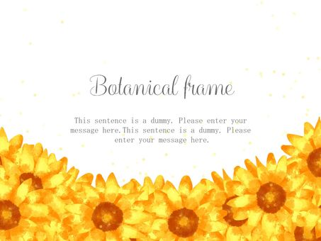 Sunflower frame 05