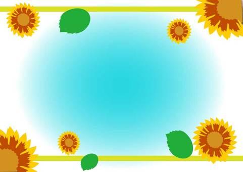 Sunflower frame 1 A4