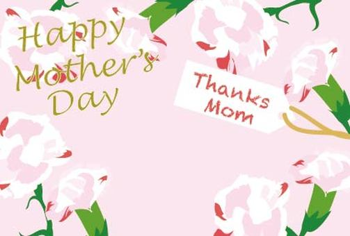 Mother's Day Carnation Message Card