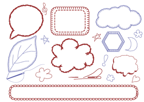 Embroidery style speech bubble