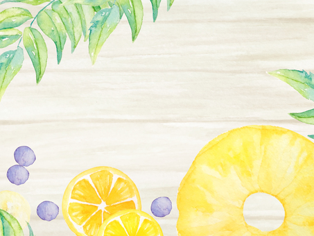 Watercolor hand-painted fruit card