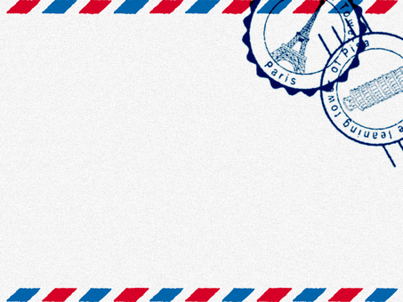 Decorative frame (Air Mail style) White